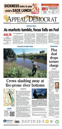 Front page, August 9, 2011